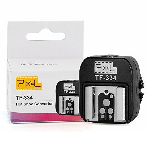 Pixel TF-334 Adattatore Hotshoe per la conversione di fotocamere DSLR Sony da MI a Canon Nikon Hotshoe con porta PC 3,5 mm (non supporta TTL)