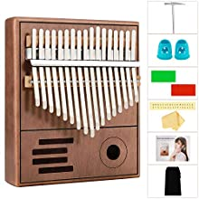 Bearbro Kalimba 17 Keys Thumb Piano,Finger Piano with Study Instruction and Tune Hammer, Portable Mbira Sanza African Wood Finger Piano for Kids Adult Beginners