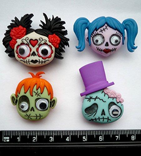 Halloween Monsters–Neuheit Craft Tasten & Verzierungen von Kleid IT UP