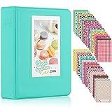 Ablus Store 64 Pockets Mini Photo Album pour Fujifilm Instax Mini 7s 8 8+ 9 25 26 50s 70 90 Caméra Instantanée et Carte Nom (Menthe)
