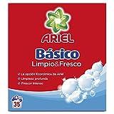 Ariel Básico Detergente en Polvo - 2.275kg, 35Lavados