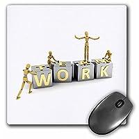 """3dRose mp_154970_1 8"""" x 8"""" Teamwork Team Work Achievement Business Concept Concepts Success Artist Figure Mannequins Wooden Mouse Pad"""