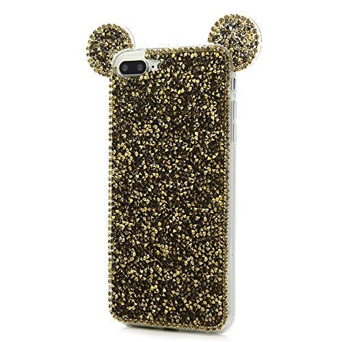 MAXFE.CO Schutzhülle Tasche Case für iPhone 6 Plus/6S Plus TPU Silikon Cover mit Diamanten Etui Protective Schale Bumper Knallblau Knallblau
