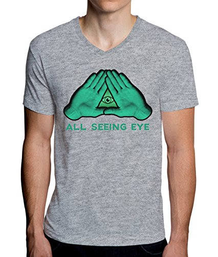 All Seeing Eye - Illuminati Triangle Design Men's V-Neck T-Shirt XX-Large - Federal Triangle