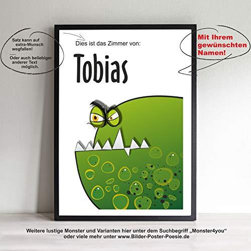 House of Happiness - Schenken mit Herz! Monster Kunstdruck A4 Poster für Kind Kinderzimmer Kindergarten Bild und Rahmen Monster4you Halloween