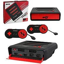 Consola RetroTrio SNES/NES/Genesis, Color Rojo/Negro + 2 Mandos