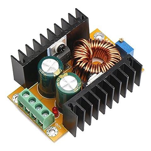 DROK® DC-DC-Boost-Wandler Power Adapter 12V / 24V 10-32V bis 36-60V 48V einstellbare Spannungsregler Step Up-Konverter-Modul für Auto Auto Motor Stromversorgung Ladegerät (Kingdom Modul)
