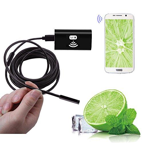 aokur Kabelloses Endoskop, WiFi Endoskopkamera wasserdichte Inspektionskamera mit 2,0 Megapixel halbsteife Kabel Boreskope Schlange kamera für Android und IOS Smartphone, Samsung, Tablet 8MM