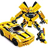 Happy GiftMart Building Blocks Bumblebee Car or Robot Transformer Building Play Set for Kid Lego Compatible Toy