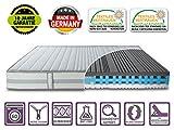 DIREKT VOM HERSTELLER - MADE IN GERMANY Matratze ZWEISEITIG 80x200 Höhe 26cm | 2 Härtegrade in 1 Matratze H2 + H3 | mit extra Gelschaum | Borderbezug SaniNature waschbar | extra hoch