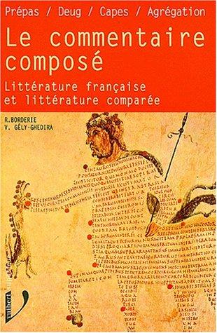 Le commentaire composé. Littérature française et littérature comparée