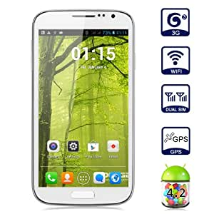 Unlocked Doogee VOYAGER DG300 5,0 pollici QHD Android 4.2 3G Smartphone 4GB ROM Dual Core MTK6572W Dual SIM Dual Standby telefono mobile del cellulare di GPS WIFI WAP (Bianco)