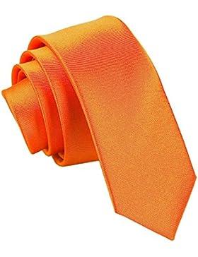 Nueva corbata estrecha fina lisa de satén DQT