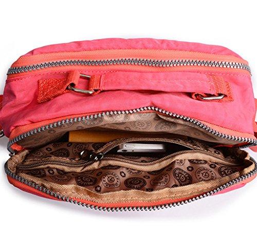 Tiny Chou leggera, impermeabile, con manico in Nylon compatto, borsa a tracolla, con tasche Blu (Blu navy)