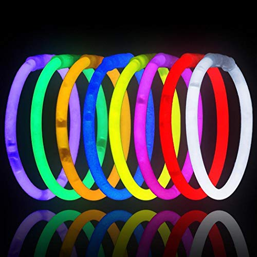 MURIEO- Glow Sticks Party 100pcs - Glow Party Supplies, Glow Sticks for Neon Party Glow Necklaces and Bracelets for Kids or Adults (Neon Bulk Party Supplies)