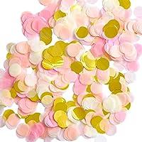 1 Pulgada Confeti de Papel Confeti de Seda Redondo Papel de Círculo de Fiesta Confeti de Mesa, 6000 Piezas, 4 Colores