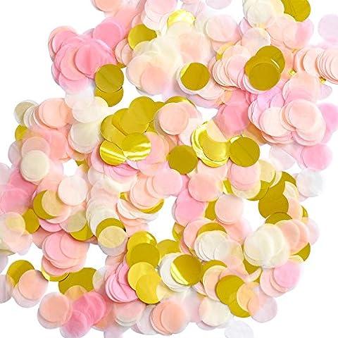 Outus 1 Pouce Papier Confetti Ronde Tissus Confettis Confetti Papier de Table Cercle de Fête, 6000 Pièces, 4 Couleurs