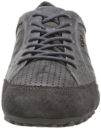 Geox Herren Uomo Snake A Sneakers Grau (Anthracite/mudc9al6)