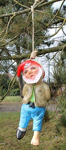 Dekofigur Gartenzwerg erhängt PVC made in Germany Gartenfigur Dekozwerg - 4