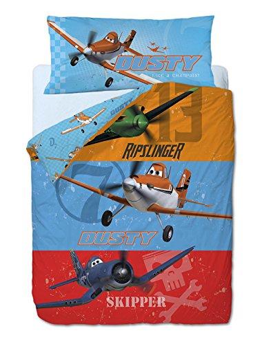 GAMANTURA Bettwäsche 3Pieces Die Flugzeuge Disney Planes: Bettbezug, Spannbettlaken House und Kissenbezug. (Disney Bettwäsche Flugzeug)