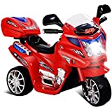 Baybee Samurai Battery Operated Ride On Bike With Music, Horn, Headlights With 25 Kg Weight Capacity - Red