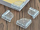 #1: Iktu Baby Proofing Corner Guards, Bumper Furniture Table Edge Sharp Corner Protectors Clear PVC Cover for Toddler Kids with Adhesive Tape Smiley L-Shaped (8 Pieces)