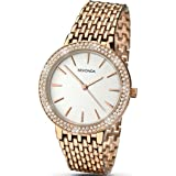 Sekonda Women's Quartz Watch with Silver Dial Analogue Display and Rose Gold Bracelet 2157.27