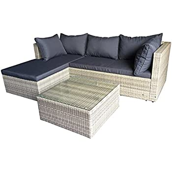 18tlg xxl loungeset polyrattan f r terrasse und balkon erweiterbar rattan xxl lounge set. Black Bedroom Furniture Sets. Home Design Ideas