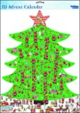 Caltime 3D libera installazione Where' s Wally albero di Natale Natale calendario dell' avvento Wally 3D–die Cut albero con Where' s Wally in verde–331x 473mm