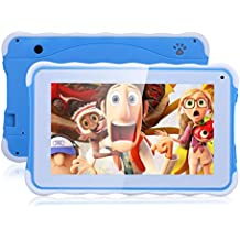 "Excelvan - 3G Tablet PC de 7"" para niños (Android 4.4, 8GB ROM, Quad-Core, Rockchip3126, OTG, batería de 3000mAh), Azul"