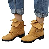 Stiefel Damen Boots Frauen Ankle Booties Leder Ritter Stiefeletten Martin Stiefel Cowboy Schuhe Boot Mode Freizeitschuhe ABsoar