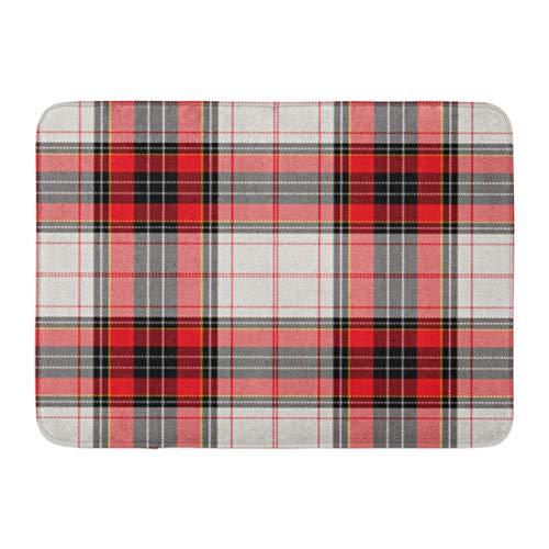 Rutschfeste Fußmatten Green Check Tartan Plaid Roter Weihnachten Britischer keltischer Karierter Clan Dauerhafte Teppiche 40 x 60 ()