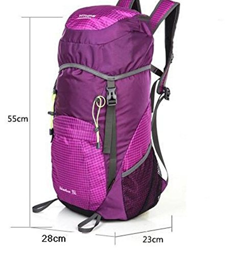 HCLHWYDHCLHWYD-Donna pelle pieghevole pacchetto ultraleggero portatile borsa trekking impermeabile di grande capienza del sacchetto di spalla Bag Man sport all'aria aperta , 4 3