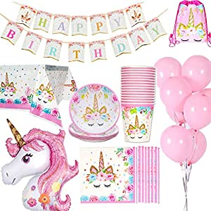 Jolily Unicornio Decoraciones cumpleaños Suministros