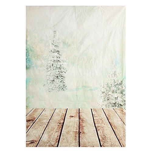 Werse 5X7ft Weihnachtsbaum Holzboden Vinyl Fotografie Studio Hintergrund Foto Hintergrund (7ft Weihnachtsbaum)
