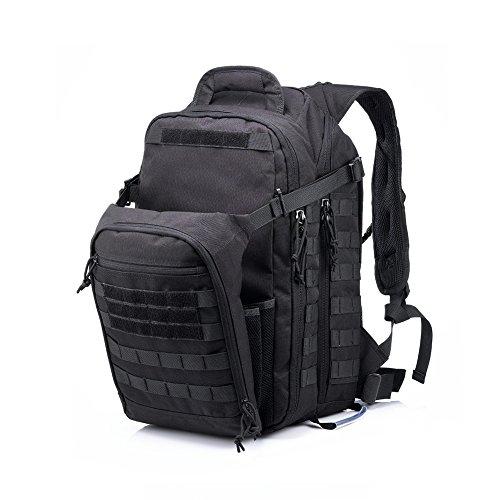 Imagen de yakeda® bolsa de hombro bolsos del alpinismo al aire libre equipado camuflaje táctico  de camping bolsa de viaje bolsas de viaje   militar 60l que acampa yendo trekking bolsa  a88034 negro  alternativa