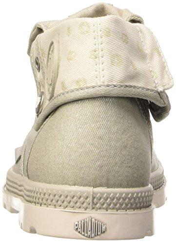 Palladium Bgy Low Lp Mtl K, Baskets Hautes Mixte Enfant Gris (D36 Moonstruck/Cement Gray)