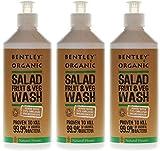 (3 PACK) - Bentley Organic - Salad Fruit & Veg Wash   500ml   3 PACK BUNDLE