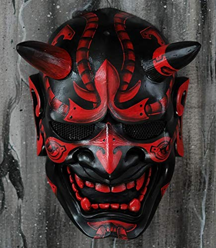Für Samurai Verkauf Kostüm - Tripple_777 Hannya Kabuki Demon Oni Airsoft Maske BB Pistole Halloween Kostüm Evil Cosplay MA244