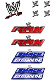 WWE EDIBLE ICING CAKE TOPPER WITH SIDES KIT