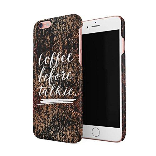 Coffee Is My Drug Dünne Rückschale aus Hartplastik für iPhone 6 Plus & iPhone 6s Plus Handy Hülle Schutzhülle Slim Fit Case cover Coffee Before Talkie