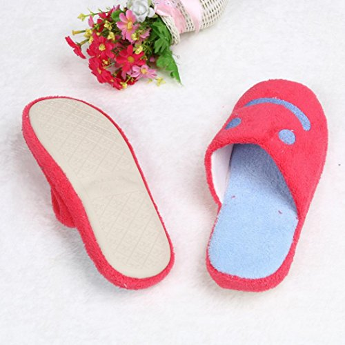 Pantofole Per Coppia,Amlaiworld Unisex Adulto Bel sorriso Coral velluto Pantofole Rosa caldo