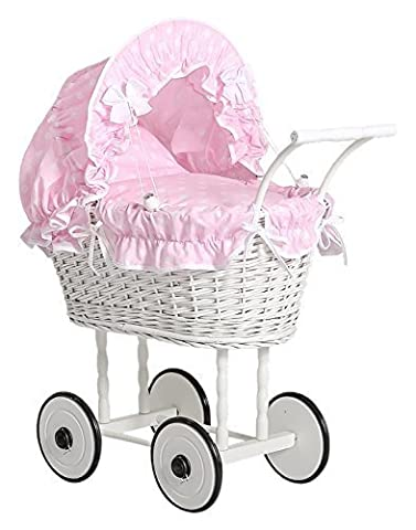My Sweet Baby Unique Dolls Pram Model 71699 (Pink)