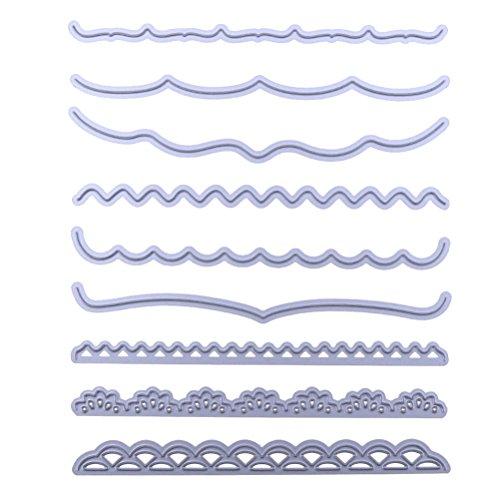 Healifty Scrapbooking Dies de Découpe pour Album Carte de Papier DIY Art Craft Décor (Dentelle)