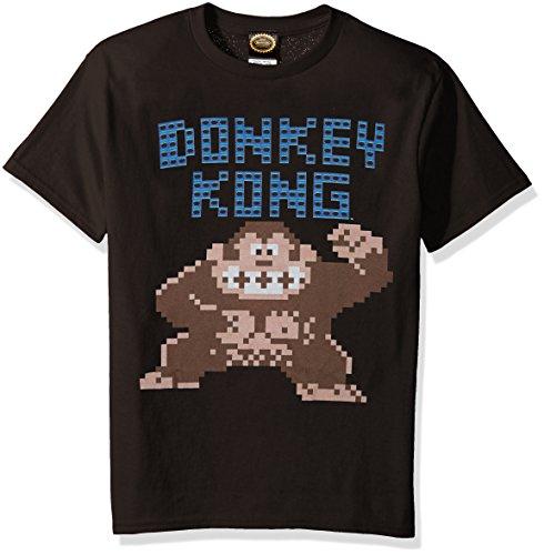 Nintendo Boys Donkey Kong Press Start Graphic T-Shirt, Black
