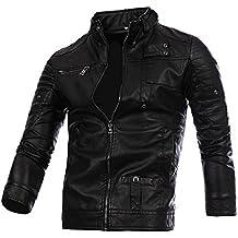 145f50cd01f4 Manteau Moto Homme en PU Cuir Hiver Chaud Grand Taille Vestes Casual Pas  Cher à La