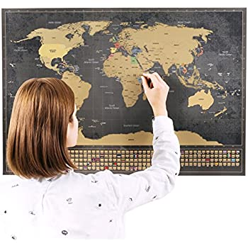 scratchable world map with flags xxl bonus a4 size map of the uk