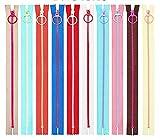 20 Unids Resina Nylon Cremallera con Anillo de Elevación Quoit 10 Color Costura Cremallera DIY Artesanía Accesorios de Costura