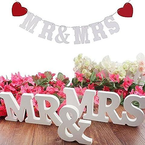 Mr & Mrs Holzbuchstaben Hochzeit Dekoration