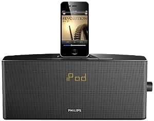 Philips AJ7034D Radio-réveil avec Station d'accueil pour iPod/iPhone 4 W RMS Tuner FM Noir